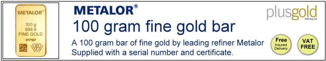 Gold Bar 100
