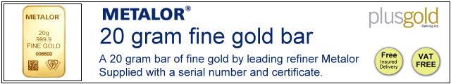 Gold Bar 20