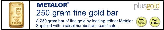 Gold Bar 250