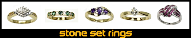 stone set rings menu