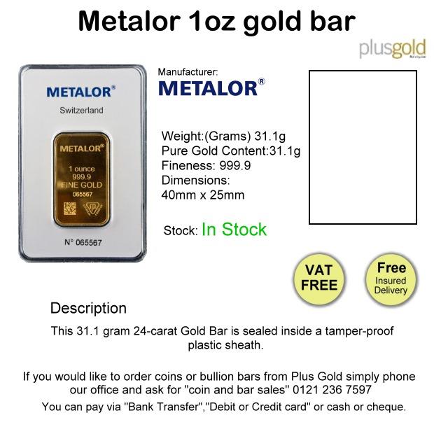 1oz gram gold Bar